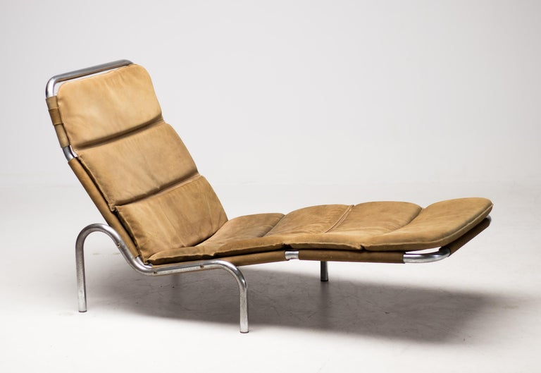 Chaise Lounge by Erik Ole Jørgensen In Good Condition For Sale In Dronten, NL