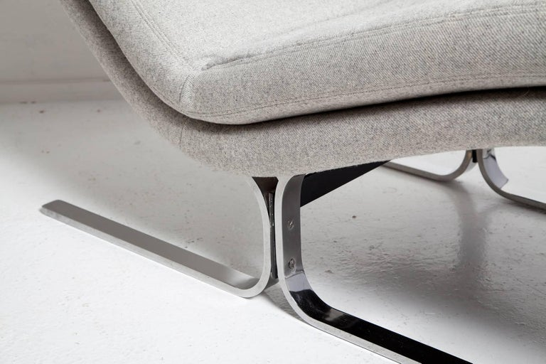 1970s Chromed Steel Chaise Longue by Brayton International For Sale 4