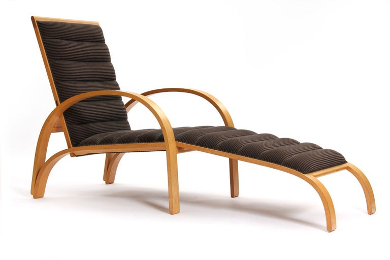 Mid-Century Modern Chaise Longue by Ward Bennett For Sale