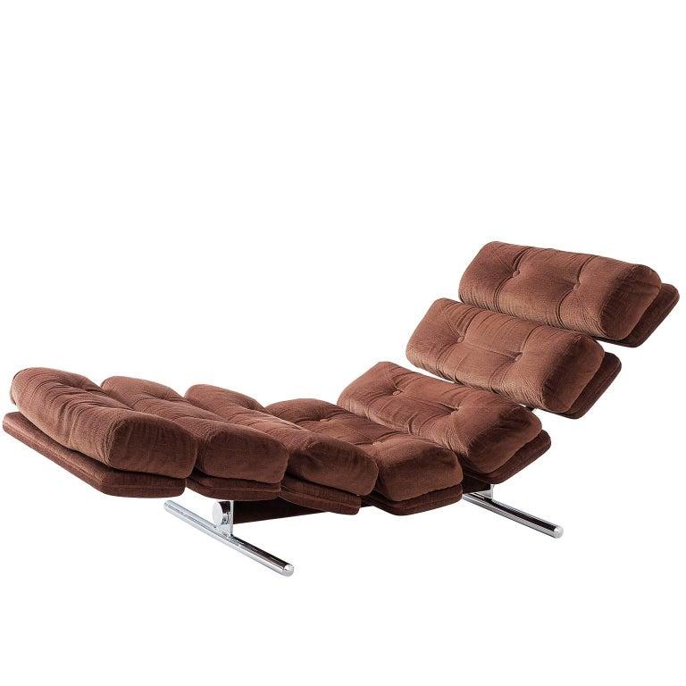 Chaise Longue for Gervan Belgium in Original Upholstery