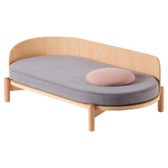 "Chaise Longue ""Knap"" in Oak and Light Gray"