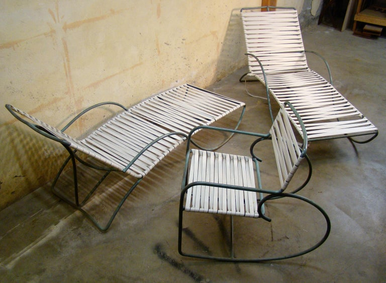 Mid-Century Modern Chaise Lounge '#1' by Walter Lamb for Brown-Jordan Outdoor in Bronze Tubing For Sale