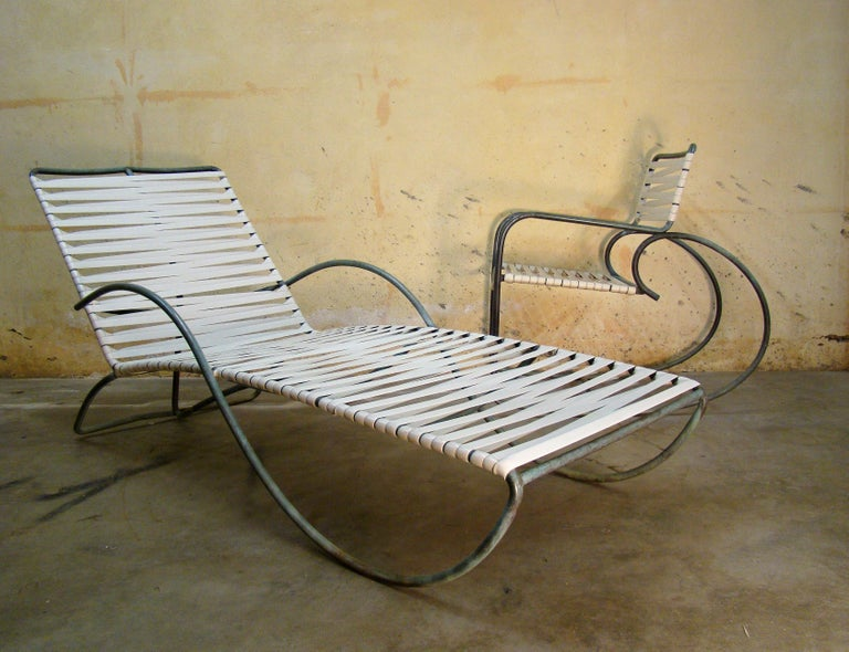 American Chaise Lounge '#1' by Walter Lamb for Brown-Jordan Outdoor in Bronze Tubing For Sale