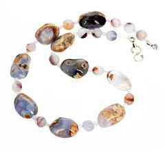 Chalcedony, Chalcedony and Chalcedony Necklace