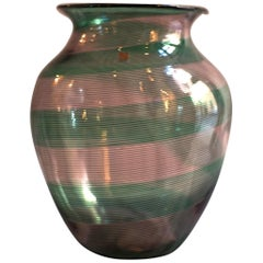 Chalcedony Glass Vase by Barovier & Toso, Italy, 1980s
