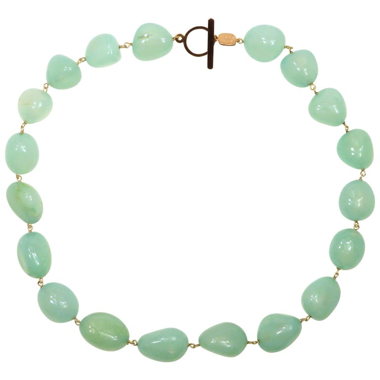 Chalcedony Rose Gold Necklace Handcrafted in Italy by Botta Gioielli For Sale