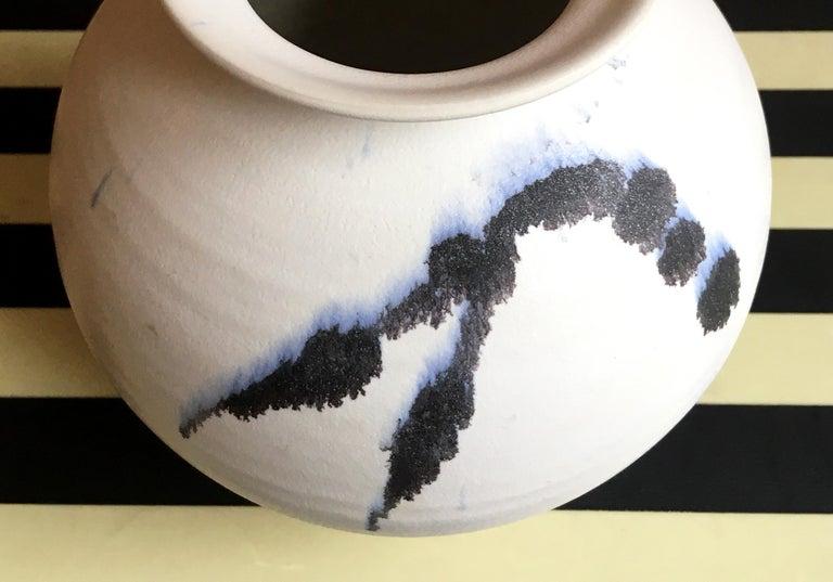 Chalk White Danish Modern Ceramic Vase by Karsten Nielsen, 1980s 5