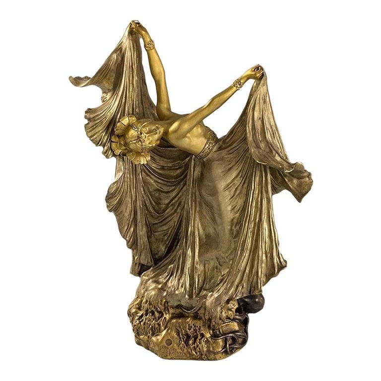 "Louis Chalon ""Octopus Dancer"" Gilt Bronze Figural Sculpture"