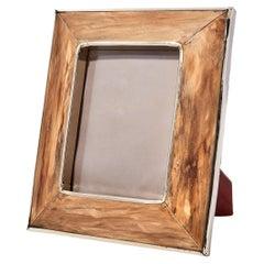 Chalten Large Wood & Alpaca Silver Photoframe