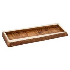 Chalten Mini Medium Wood & Alpaca Silver Rectangular Tray