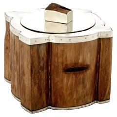 Chalten Wood & Alpaca Silver Ice Bucket