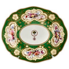 Chamberlains Worcester Meat Platter, Green, Brazilian Order of the Rose, ca 1829