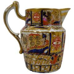 Chamberlains Worcester Porcelain Jug, Imari Astern, circa 1810