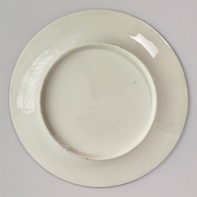 Chamberlains Worcester Porcelain Plate, White with Flowers Victorian, circa 1846 5