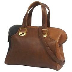 Chameleon 2WAY  Womens  handbag  brown x dark brown Leather