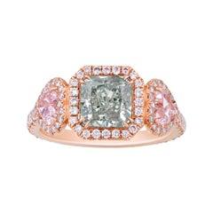 Chameleon Diamond Ring, 1.53 Carats