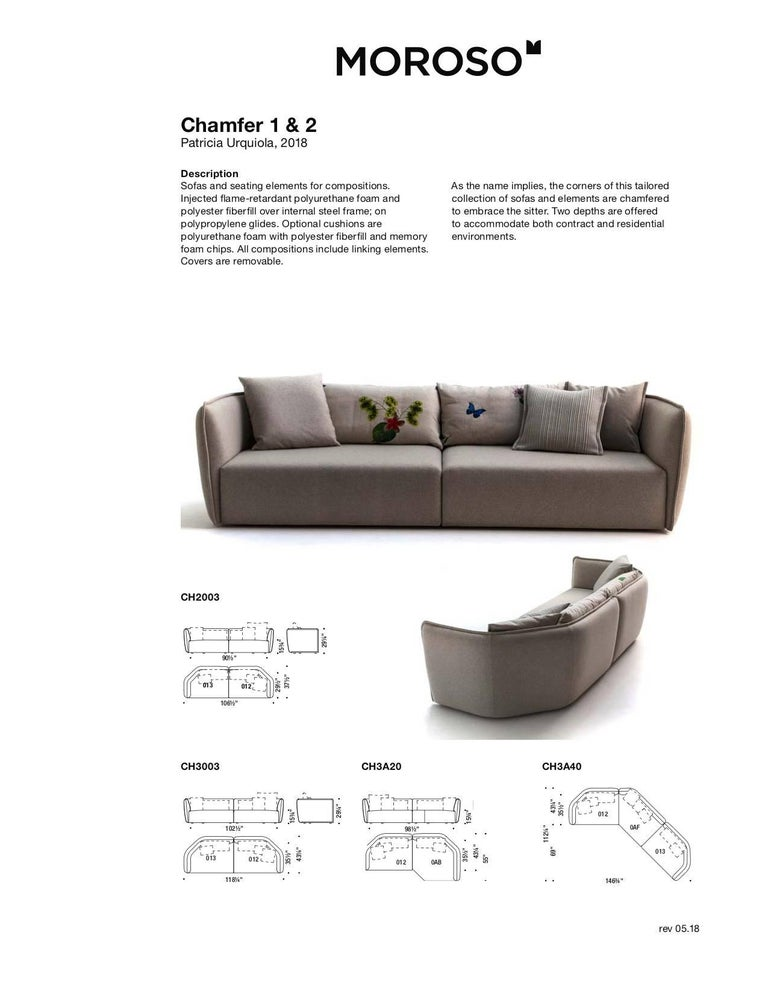 Chamfer 2 Round Sofa by Patricia Urquiola for Moroso in Three Configurations For Sale 10