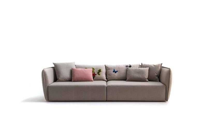 Italian Chamfer 2 Round Sofa by Patricia Urquiola for Moroso in Three Configurations For Sale