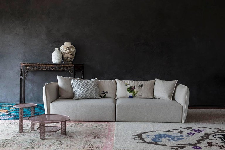 Fabric Chamfer 2 Round Sofa by Patricia Urquiola for Moroso in Three Configurations For Sale