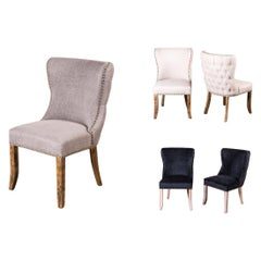 Chamonix French Style Upholstered Dining Chair Range, 20th Century