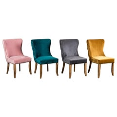 Chamonix Velvet Side Chair Range, 20th Century