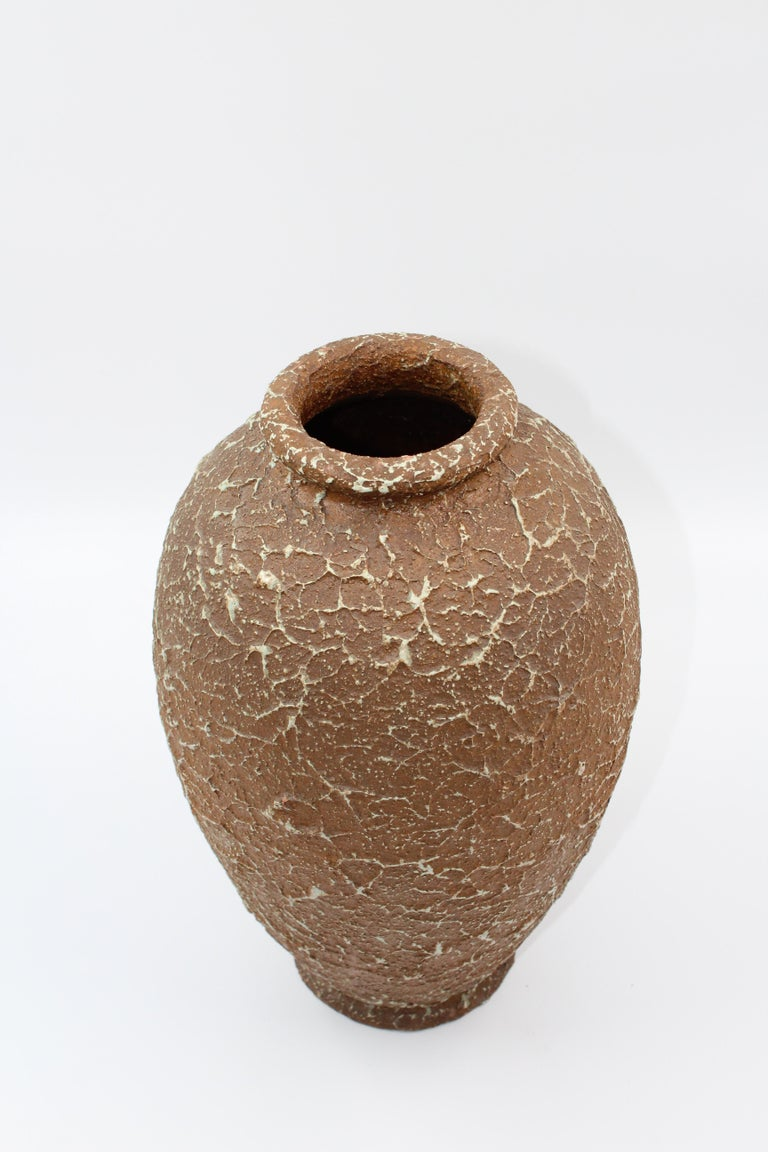 Scandinavian Modern Chamotte Vase by Andersson & Johansson Höganäs, Early 1900s For Sale