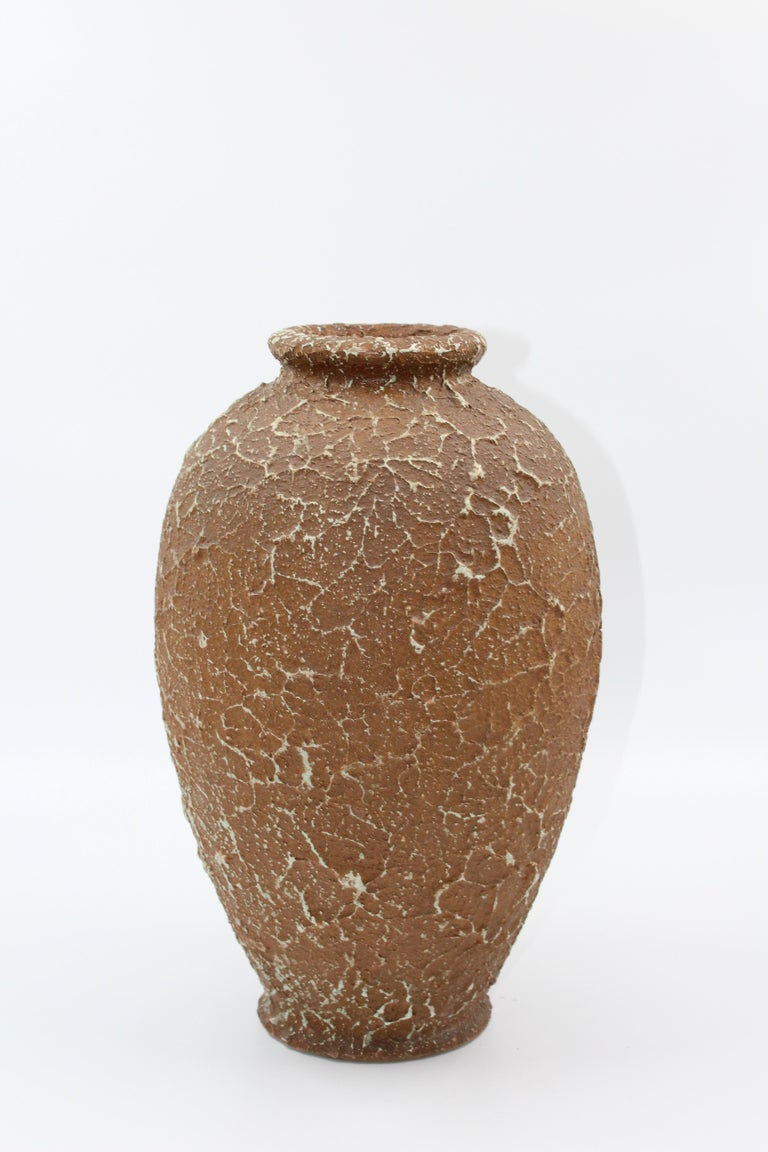 Swedish Chamotte Vase by Andersson & Johansson Höganäs, Early 1900s For Sale
