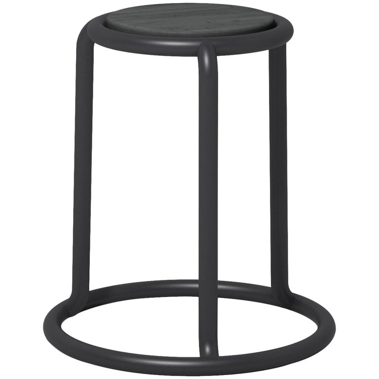 Champ Stool in Black by Visibility For Sale