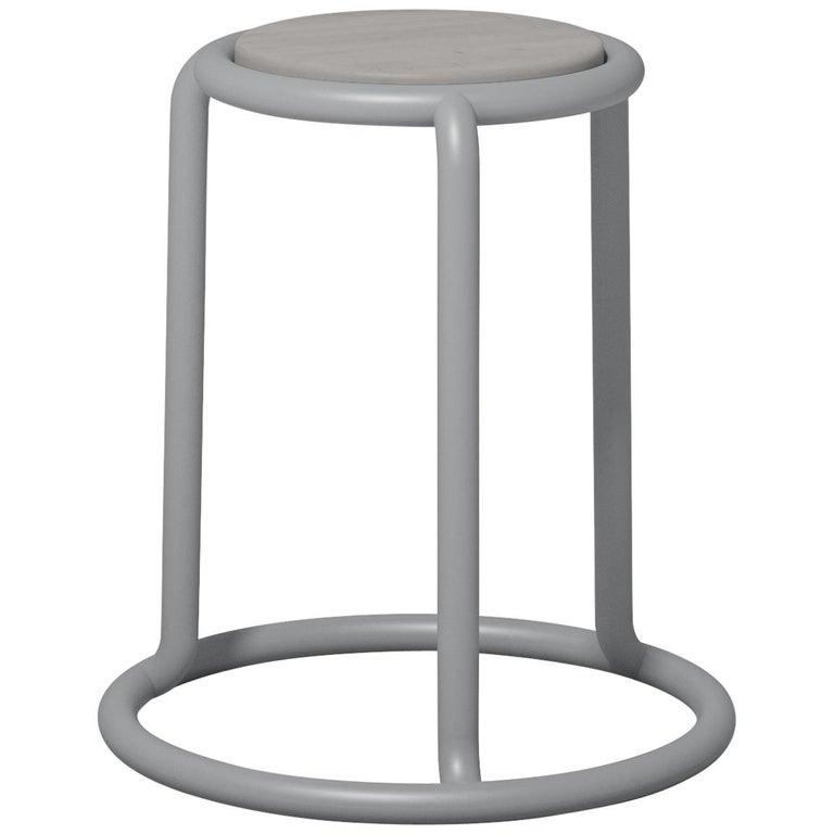 Champ Stool in Grey by Visibility For Sale