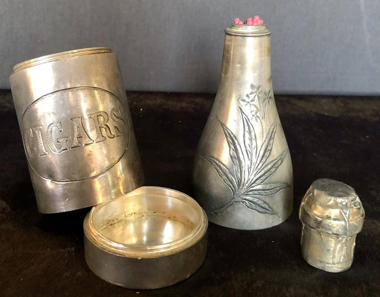 Champagne Bottle Cigar Holder Pairpoint Manufacturing.Co. Part of a Large Collec For Sale 3