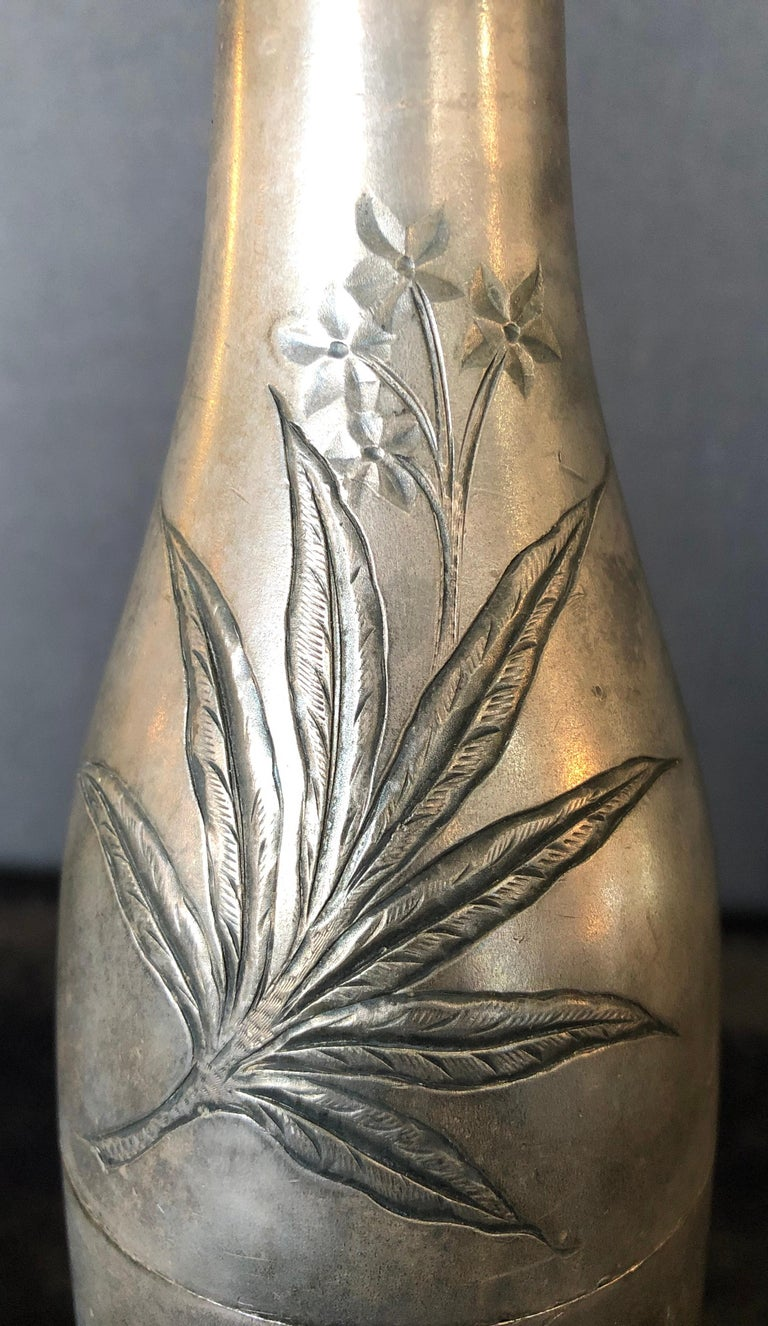 Early 20th Century Champagne Bottle Cigar Holder Pairpoint Manufacturing.Co. Part of a Large Collec For Sale