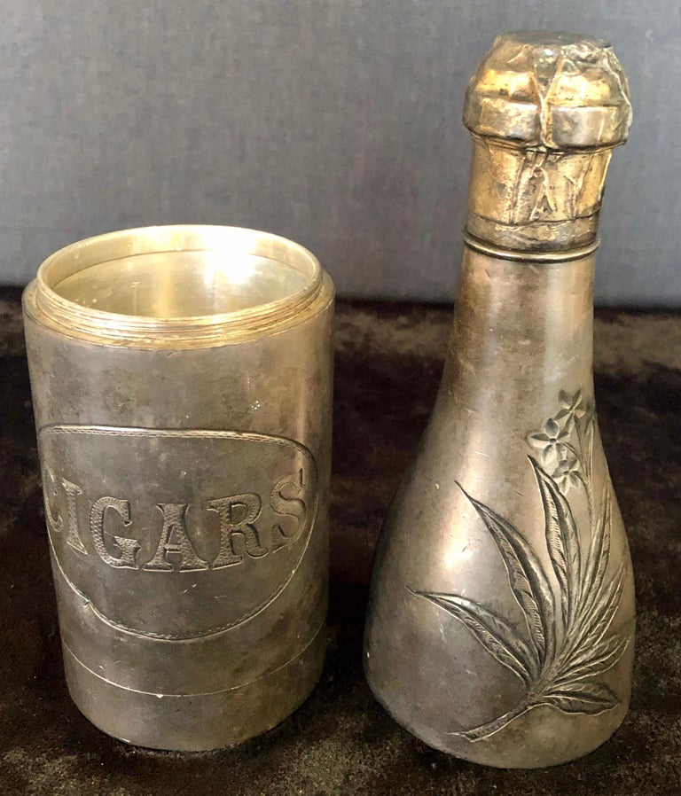 Champagne Bottle Cigar Holder Pairpoint Manufacturing.Co. Part of a Large Collec For Sale 2