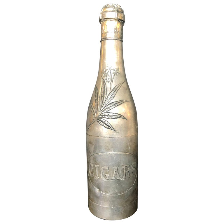 Champagne Bottle Cigar Holder Pairpoint Manufacturing.Co. Part of a Large Collec For Sale