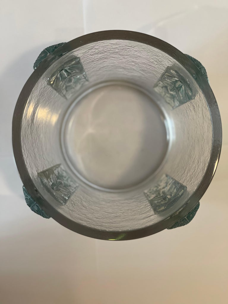 Champagne Bucket by René Lalique, France, Art Déco, 1930s In Good Condition For Sale In Paris, FR