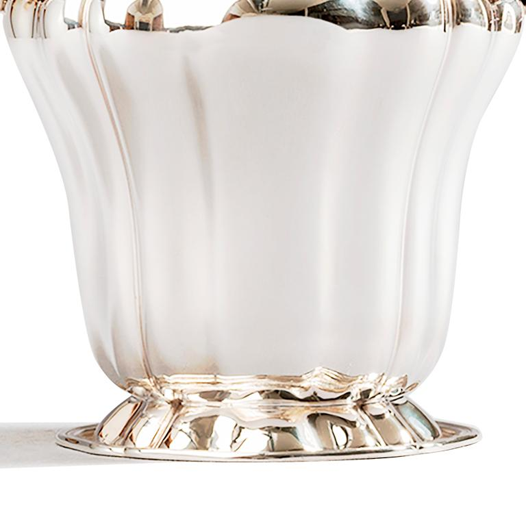 Italian Champagne Bucket, Sterling Silver Embossed Champagne Bucket, Made in Italy For Sale