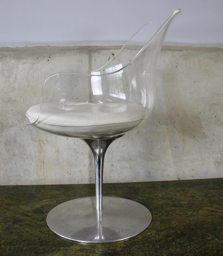 Mid-Century Modern Champagne chair by Erwine and Estelle Laverne for Formes Nouvelles, USA, 1960s For Sale