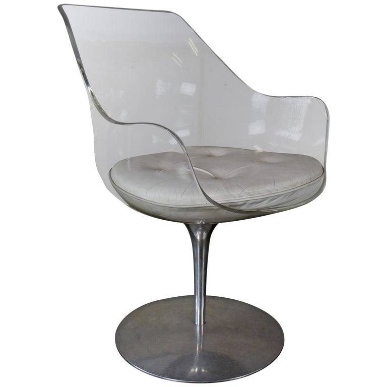 Champagne chair by Erwine and Estelle Laverne for Formes Nouvelles, USA, 1960s For Sale