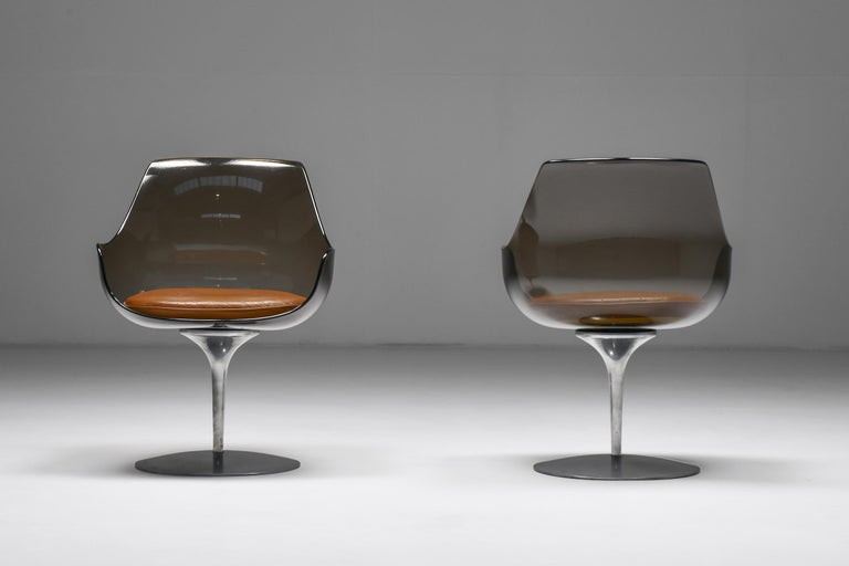 Space Age Champagne Chairs by Erwine & Estelle For Laverne International, 1959 For Sale