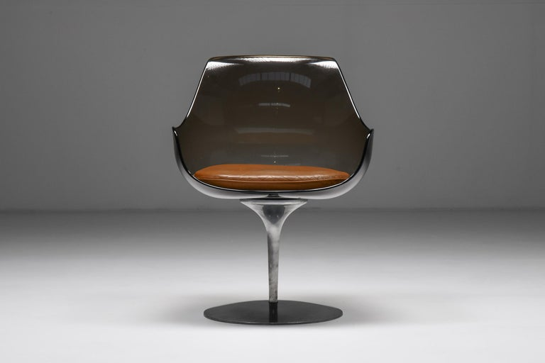 Polished Champagne Chairs by Erwine & Estelle For Laverne International, 1959 For Sale