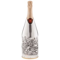 """Champagne Cover, Solid Pure Silver 999/°°, """"Battaglia di Cascina"""", 2019"""