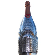 Champagne Cover, Solid Pure Silver, Chrysler Building, 2020, Italy