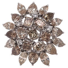 Champagne Diamond Cluster Ring