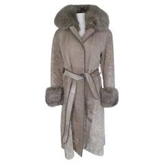 Champagne Pony Fox Fur Coat