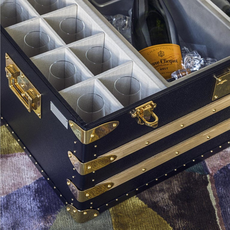 Modern Champagne Trunk for 10 For Sale
