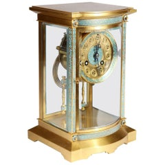 Champlevé 8 Day French Carriage Clock