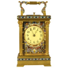 Champleve Repeating Carriage Clock