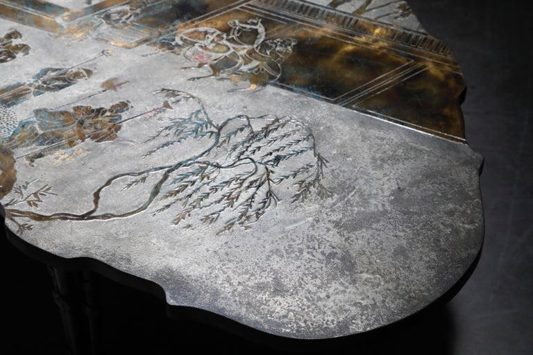 'Chan Boucher' Bronze Coffee Table by Philip & Kelvin LaVerne, 1960s, Signed For Sale 3