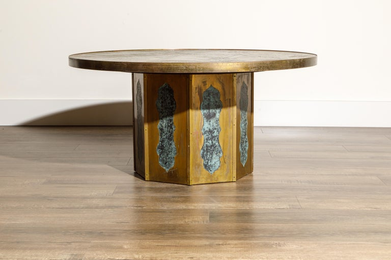 Mid-Century Modern 'Chan' Bronze Cocktail Table by Philip & Kelvin LaVerne, 1960s, Double Signed For Sale