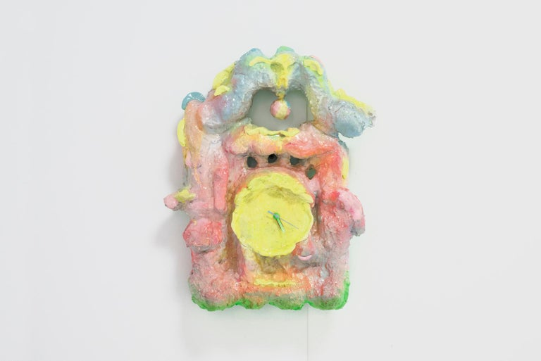 Metal Chan Chiao Chun Contemporary Colorful Wall Clock from the Series