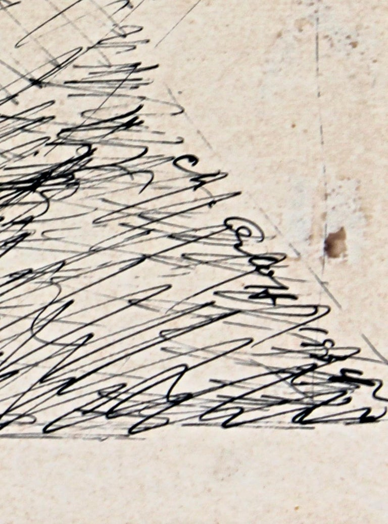 Chana Orloff 'Dancer' 1934 Pen and Ink Drawing For Sale 1